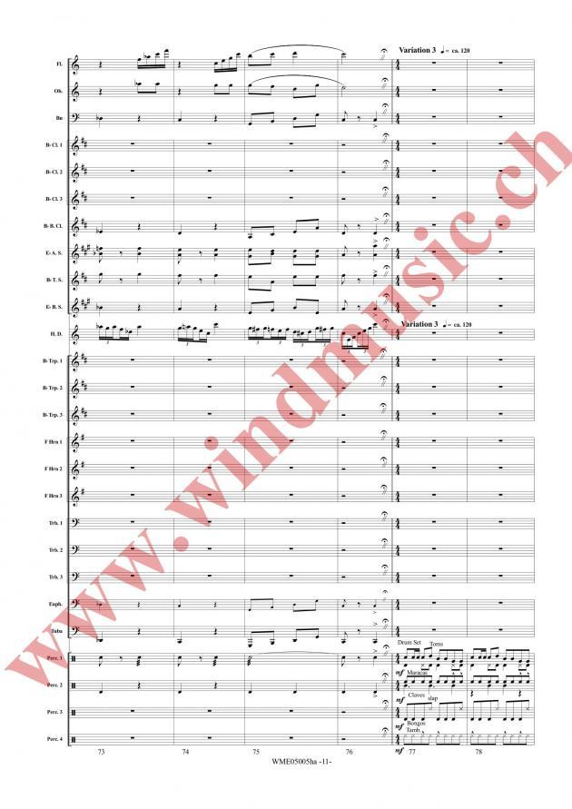 Thema und Variationen für Hackbrett und Blasorchester