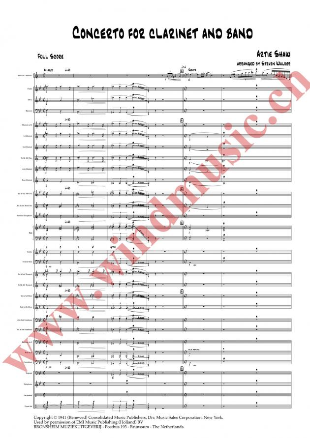 Concerto for Clarinet and Band